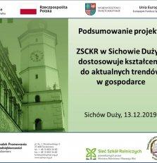 Zaproszenie na seminarium w ZSCKR w Sichowie Dużym - 13 grudnia 2019 r.